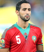 Mehdi Benatia during the 2013 African Cup of Nations match between Morocco and Cape Verde at Moses Mahbida Stadium on January 23 2013 in Durban South...