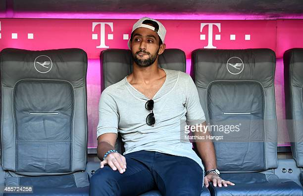Mehdi Benatia of Bayern Muenchen looks on before the Bundesliga match between FC Bayern Muenchen and Bayer Leverkusen at Allianz Arena on August 29...