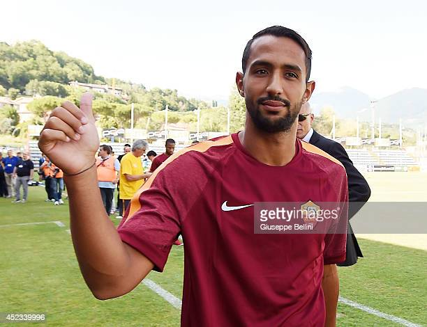 Mehdi Benatia of Roma before the friendly match between AS Roma and Indonesia U23 at Stadio Centro d'Italia Manlio Scopigno on July 18 2014 in Rieti...