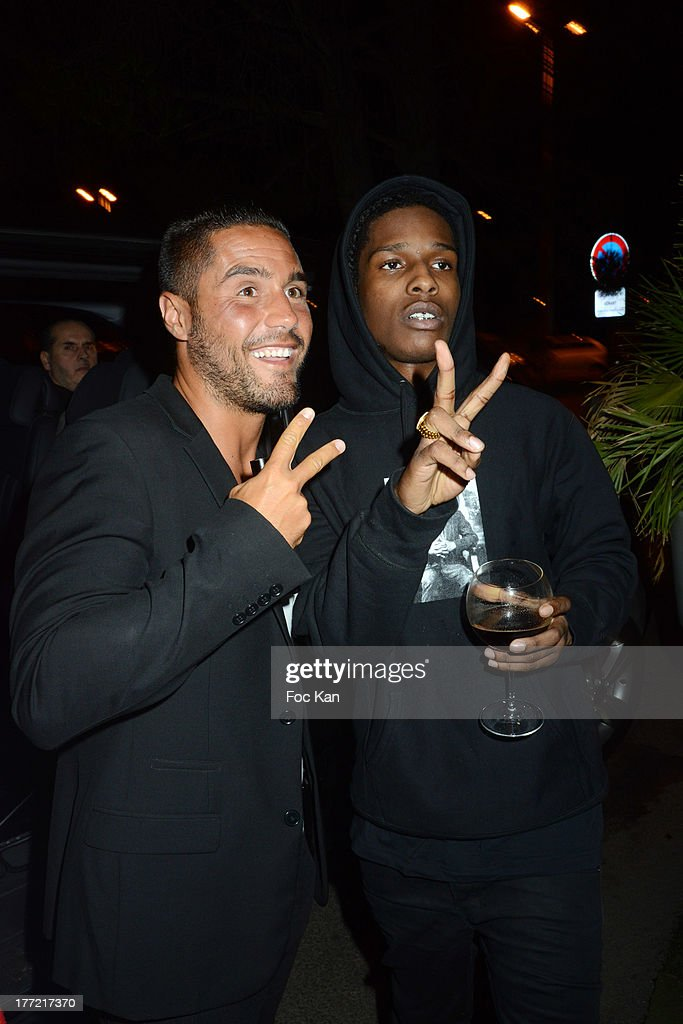 Mehdi Boureghda and ASAP Rocky attend the ASAP Rocky Party at the VIP Room on August 21, 2013 in Saint Tropez, France.