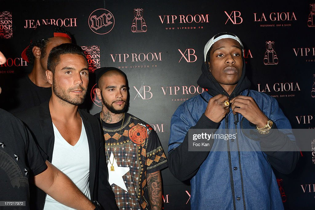 Mehdi Boureghdan, DJ Timati and ASAP Rocky attend the ASAP Rocky Party at the VIP Room on August 21, 2013 in Saint Tropez, France.