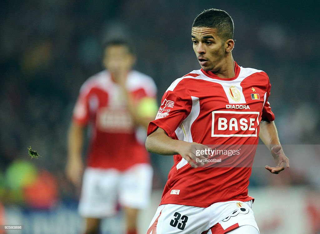 Mehdi Carcela of Royal Standard Liege in action during the Jupiler League match between Standard Liege and Racing Genk on October 4, 2009 in Liege, Belgium.