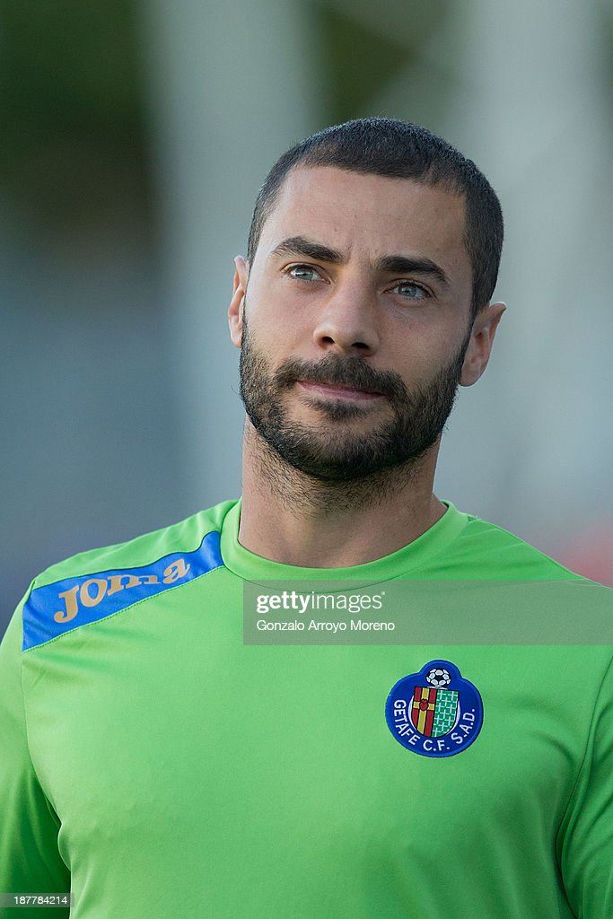 Mehdi Gregory Guiseppe Lacen of Getafe CF walks to the bench prior to start the La Liga match between Getafe CF and Real Betis Balompie at Coliseum Alfonso Perez on October 6, 2013 in Getafe, Spain.