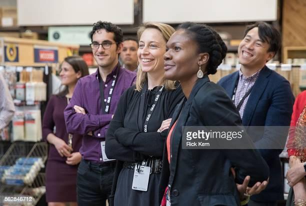 Mehdi Jamei Krista Donaldson Misan Rewane and Jukay Hsu attend TreeHouse Hosts GLG Social Impact Fellows in Austin Texas on October 17 2017