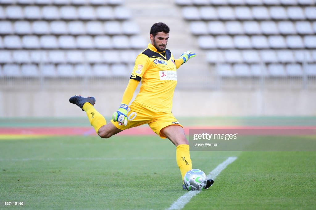 Mehdi Jeannin of Clermont during the French League Cup match between Paris FC and Clermont Foot at Stade Charlety on August 22, 2017 in Paris, France.