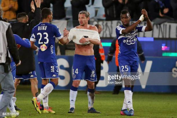 Mehdi MOSTEFA of bastia during the French Ligue 1 match between Bastia and Monaco at Stade Armand Cesari on February 18 2017 in Bastia France