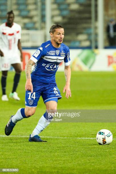 Mehdi Mostefa of Bastia during the French Ligue 1 match between Bastia and Lille at Stade Armand Cesari on April 1 2017 in Bastia France