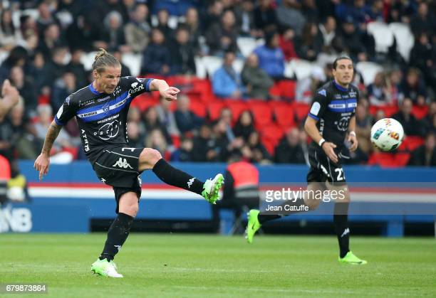 Mehdi Mostefa of Bastia during the French Ligue 1 match between Paris SaintGermain and SC Bastia at Parc des Princes stadium on May 6 2017 in Paris...