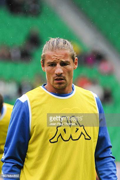 Mehdi MOSTEFA of Bastia during the Ligue 1 match between AS Saint Etienne and Bastia at Stade GeoffroyGuichard on September 18 2016 in SaintEtienne...