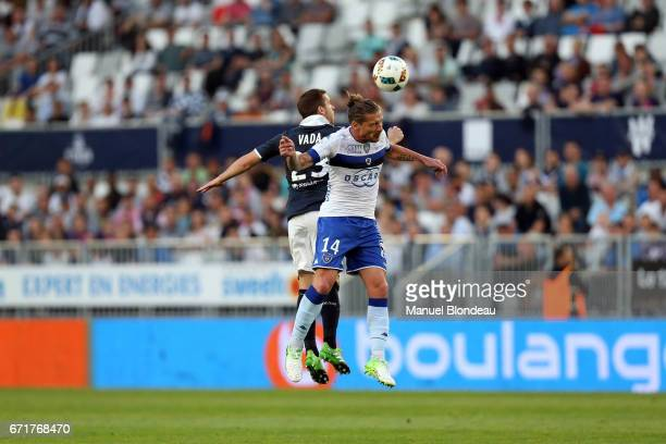 Mehdi Mostefa of Bastia during the Ligue 1 match between at Nouveau Stade de Bordeaux on April 22 2017 in Bordeaux France