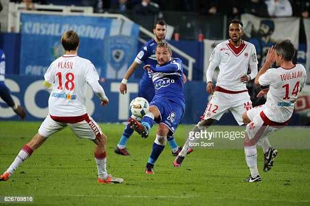 mehdi mostefa of bastia during the Ligue 1 match between SC Bastia and FC Girondins de Bordeaux at Stade Armand Cesari on November 30 2016 in Bastia...