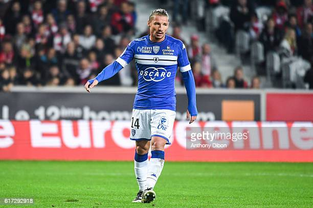 Mehdi Mostefa Sbaa of Bastia during the Ligue 1 match between Lille and Bastia at Stade PierreMauroy on October 22 2016 in Lille France