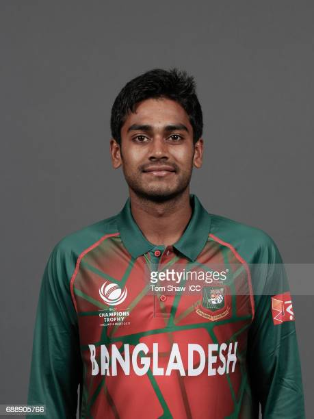 Mehedi Hasan Miraz of Bangladesh poses for a picture during the Bangladesh Portrait Session for the ICC Champions Trophy at Grand Hyatt on May 26...
