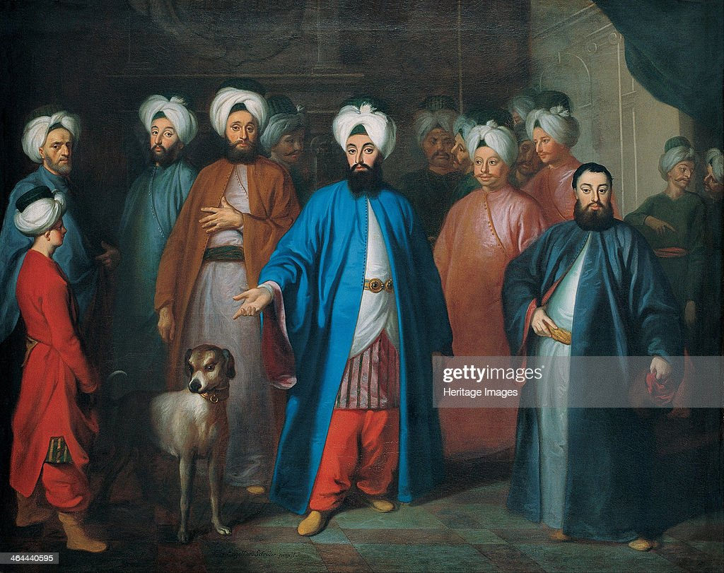 Mehmed Said Efendi and his Retinue 1740s Found in the collection of the Pera Museum Istanbul