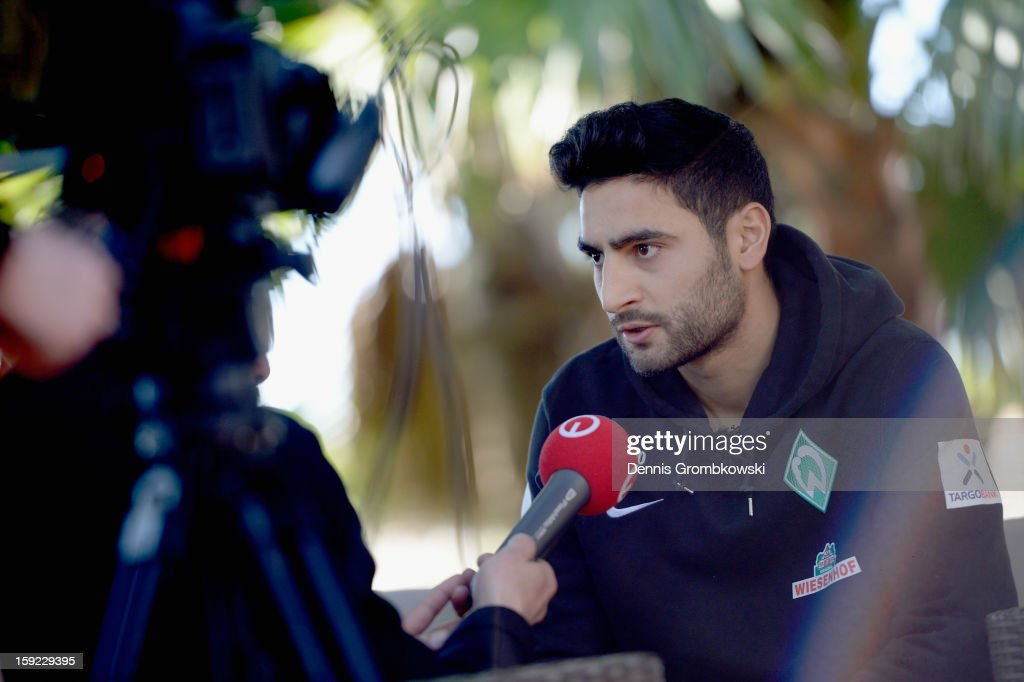 Mehmet Ekici of Bremen is interviewed during a media talk at day six of the Werder Bremen Training Camp on January 10, 2013 in Belek, Turkey.