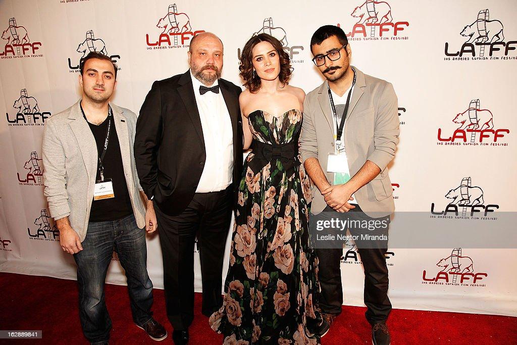 Mehmet Gungoren, Ahmet Mumtaz Taylan, Belcim Bilgim and Cenk Erturk attends The 2nd Annual Los Angeles Turkish Film Festival Opening Reception at the Egyptian Theatre on February 28, 2013 in Hollywood, California.