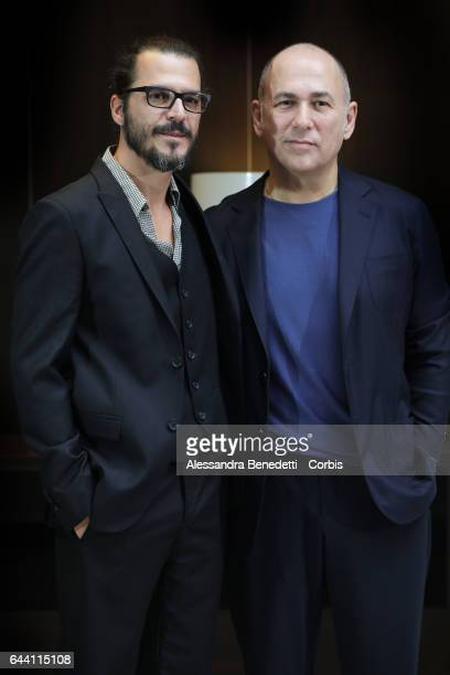 Mehmet Gunsur and director Ferzan Ozpetek attend the Photocall of movie Rosso Istanbul on February 23 2017 in Rome Italy