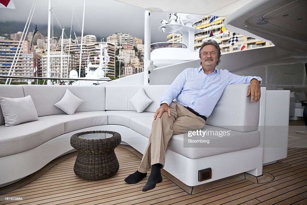 Mehmet Karabeyoglu, chief executive officer of Proteksan Turquoise shipyard, poses for a photograph on the deck of the 49.9-meter superyacht Ileria, built by Proteksan Turquoise, with the interior designed by J G Verges Design, during the Monaco Yacht Show (MYS) in Monaco, France, on Thursday, Sept. 26, 2013. Over 100 of the world's luxury yachts will be displayed in Port Hercules during the 23rd MYS which runs from Sept. 25 - 28. Photographer: Balint Porneczi/Bloomberg via Getty Images