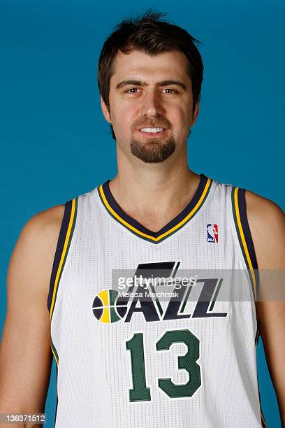 Mehmet Okur of the Utah Jazz poses for a portrait during the Utah Jazz Media Day at Zions Basketball Center on December 09 2011 in Salt Lake City...