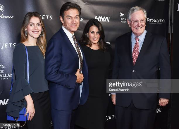 Mehmet Oz aka Dr Oz and family with Warren Buffett attend the Forbes Media Centennial Celebration at Pier 60 on September 19 2017 in New York City