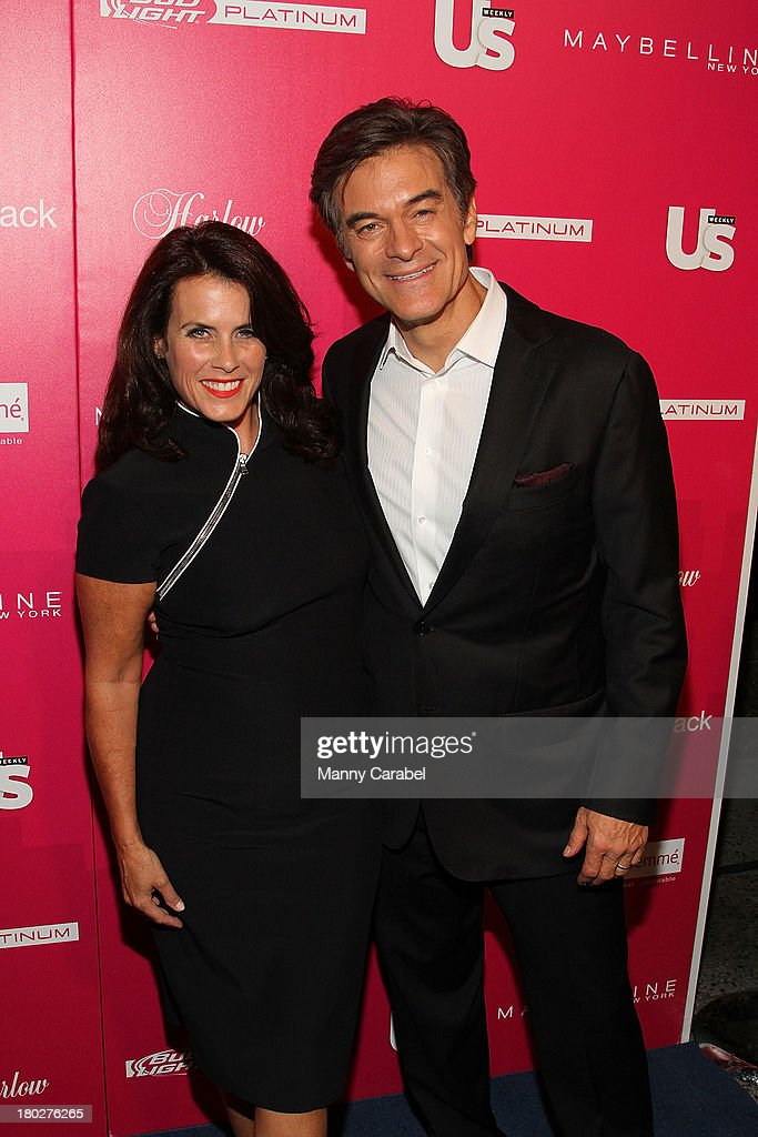 Mehmet Oz and his wife Lisa attend the Us Weekly's Most Stylish New Yorkers Party at Harlow on September 10, 2013 in New York City.