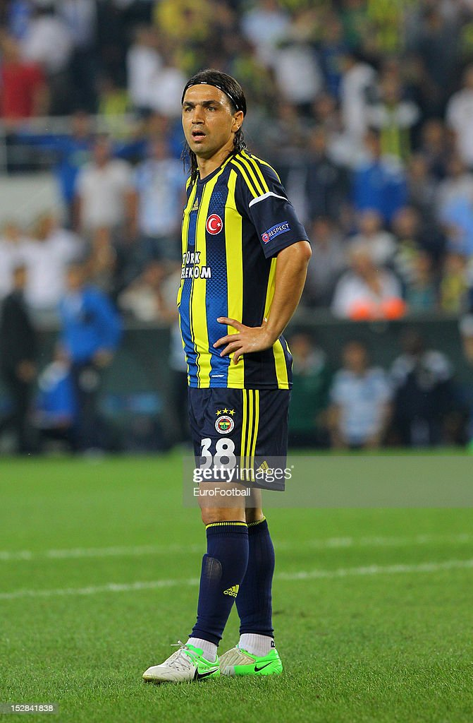Mehmet Topuz of Fenerbahce SK in action during the UEFA Europa League group stage match between Fenerbahce SK and Olympique de Marseille on September 20. 2012 at Sukru Saracoglu in Istanbul, Turkey.