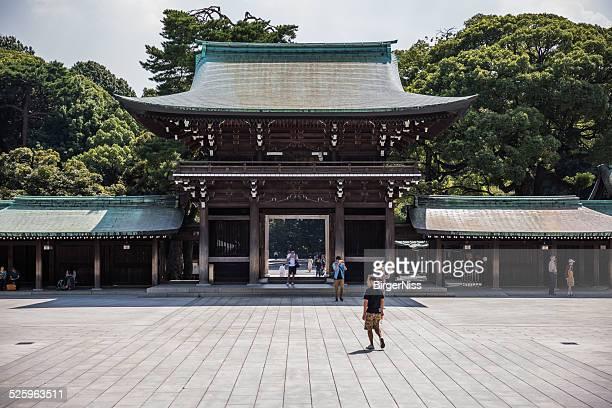 Santuário de Meiji Jingu Xintoísmo Distrito de Shibuya, Tóquio, Japão