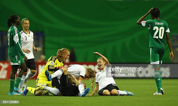 Meike Kaemper goalkeeper of Germany celebrate with her team mates after winning the FIFA U20 Women's World Cup 2014 final match between Nigeria and...