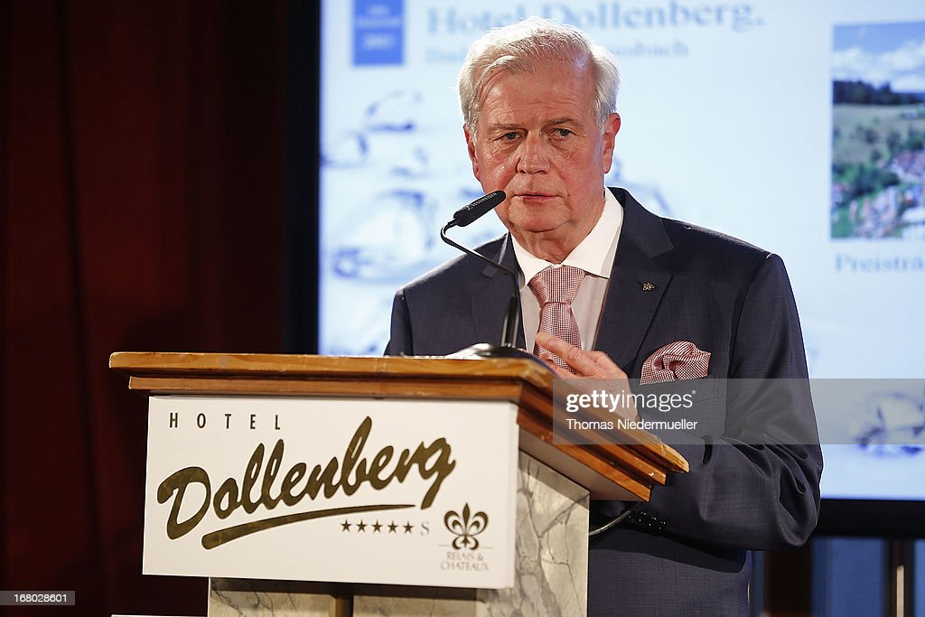 Meinrad Schmiederer talks during the Spa Diamond Award 2013 on May 4, 2013 in Bad Peterstal-Griesbach, Germany.