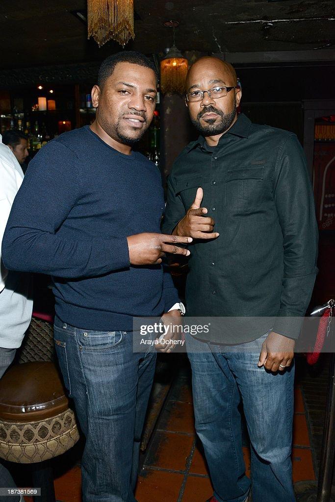 Mekhi Phifer (L)and Inny Clemons attend the Emmett/Furla/Oasis Films hosts celebration for the upcoming production of 'Tupac' at Zanzibar on November 7, 2013 in Santa Monica, California.