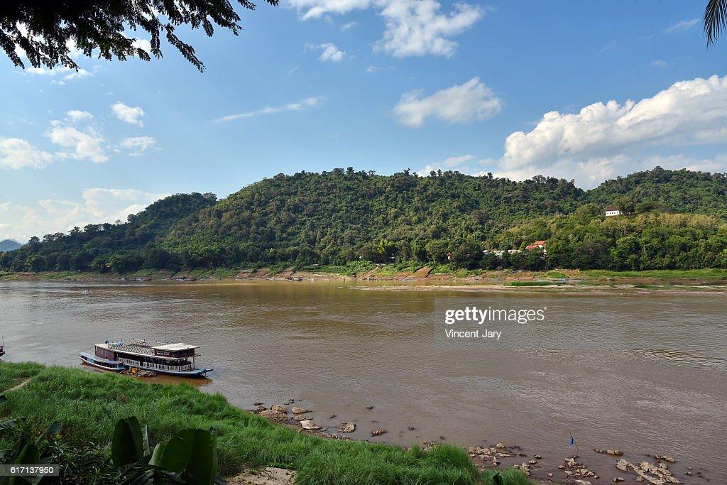 mekong landscape laos : Stock Photo