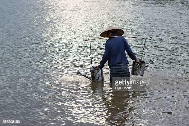 Mekong river farmer