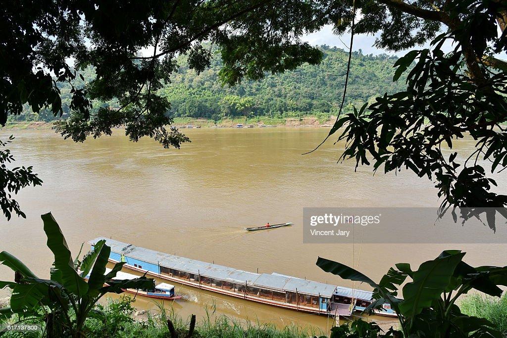 mekong river laos : Stock Photo