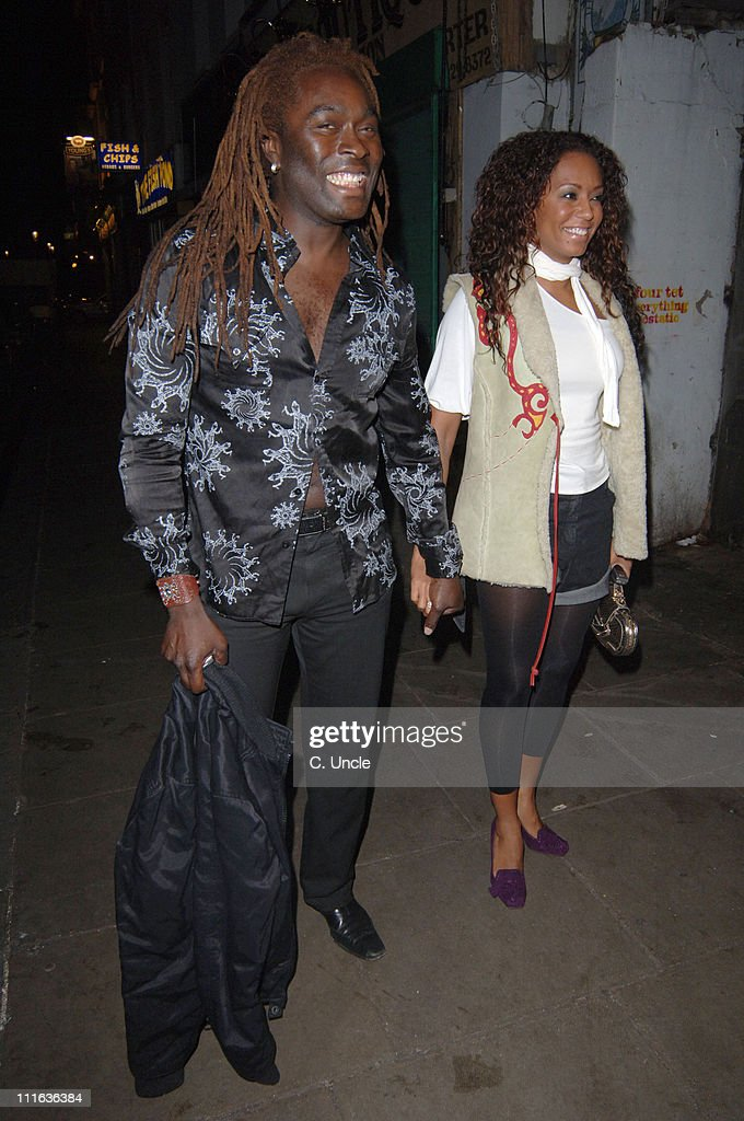 Mel B and guest during Grand Classics 'Casablanca' Screening Departures at Electric Cinema in London Great Britain