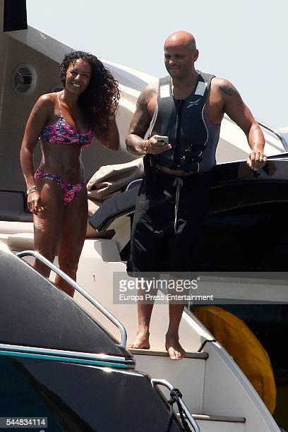 Mel B and Stephen Belafonte are seen on July 2 2016 in Ibiza Spain