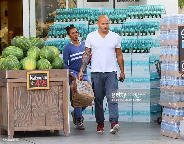 Mel B and Stephen Belafonte are seen on June 13 2016 in Los Angeles California