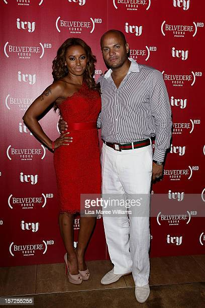 Mel B and Stephen Belafonte arrive at the Belvedere Red Launch at the Ivy pool on December 1 2012 in Sydney Australia