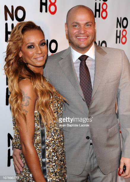 Mel B and Stephen Belafonte arrive at the NOH8 Campaign 2nd Anniversary Celebration at Wonderland on December 13 2010 in Los Angeles California