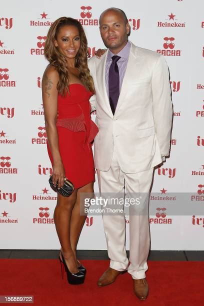 Mel B and Stephen Belafonte arrive at the Pacha Launch at the Ivy on November 24 2012 in Sydney Australia