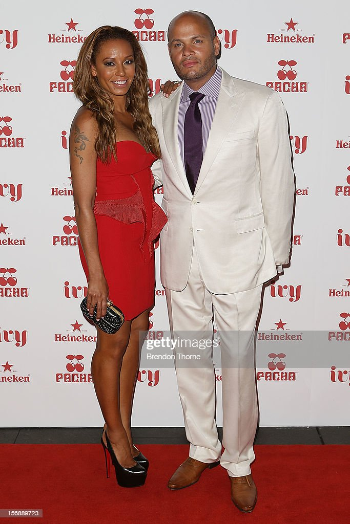 Mel B and <a gi-track='captionPersonalityLinkClicked' href=/galleries/search?phrase=Stephen+Belafonte&family=editorial&specificpeople=4361206 ng-click='$event.stopPropagation()'>Stephen Belafonte</a> arrive at the Pacha Launch at the Ivy on November 24, 2012 in Sydney, Australia.