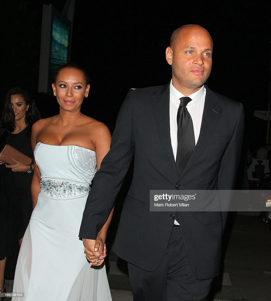 Mel B and <a gi-track='captionPersonalityLinkClicked' href=/galleries/search?phrase=Stephen+Belafonte&family=editorial&specificpeople=4361206 ng-click='$event.stopPropagation()'>Stephen Belafonte</a> at Plage Royal during The 66th Annual Cannes Film Festival on May 21, 2013 in Cannes, France.