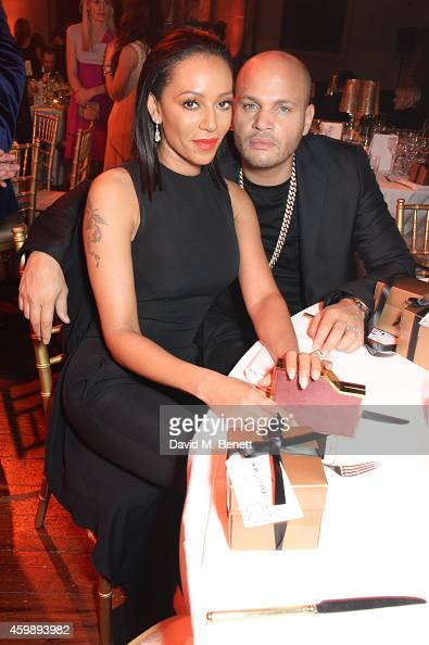 Mel B and Stephen Belafonte attend the Cosmopolitan Ultimate Women of the Year Awards at One Mayfair on December 3 2014 in London England