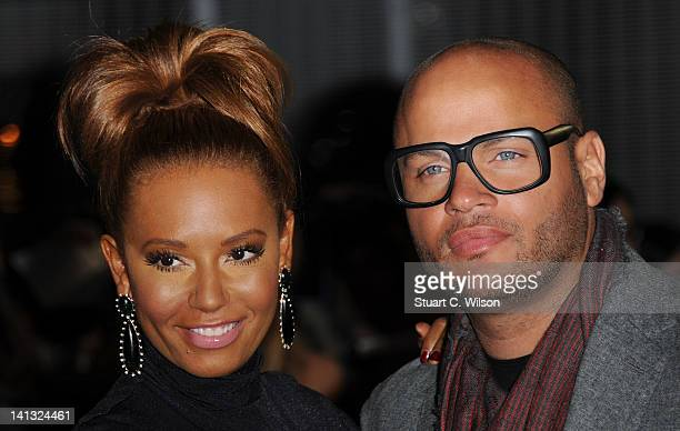 Mel B and Stephen Belafonte attend the European premiere of The Hunger Games at O2 Arena on March 14 2012 in London England