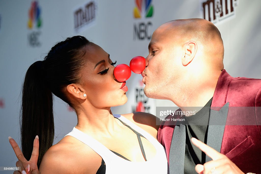 Mel B and <a gi-track='captionPersonalityLinkClicked' href=/galleries/search?phrase=Stephen+Belafonte&family=editorial&specificpeople=4361206 ng-click='$event.stopPropagation()'>Stephen Belafonte</a> attend The Red Nose Day Special on NBC at Alfred Hitchcock Theater at Universal Studios on May 26, 2016 in Universal City, California.
