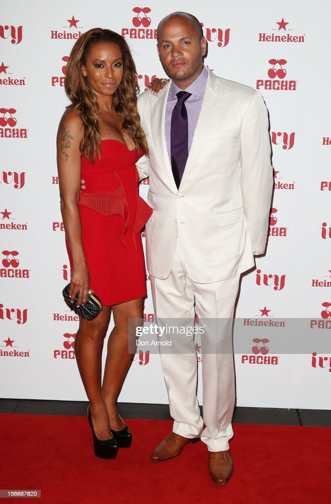 Mel B and <a gi-track='captionPersonalityLinkClicked' href=/galleries/search?phrase=Stephen+Belafonte&family=editorial&specificpeople=4361206 ng-click='$event.stopPropagation()'>Stephen Belafonte</a> pose at the Pacha Launch at the Ivy on November 24, 2012 in Sydney, Australia.