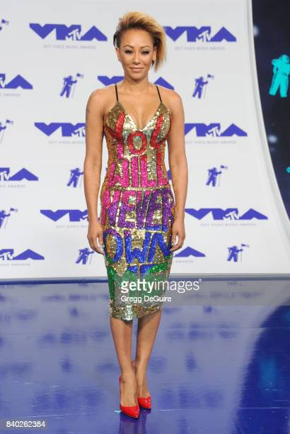Mel B arrives at the 2017 MTV Video Music Awards at The Forum on August 27 2017 in Inglewood California