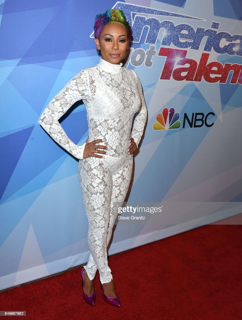 Mel B arrives at the NBC's 'America's Got Talent' Season 12 Finale Week at Dolby Theatre on September 19, 2017 in Hollywood, California.
