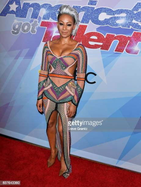 Mel B arrives at the NBC's 'America's Got Talent' Season 12 Live Show at Dolby Theatre on August 22 2017 in Hollywood California