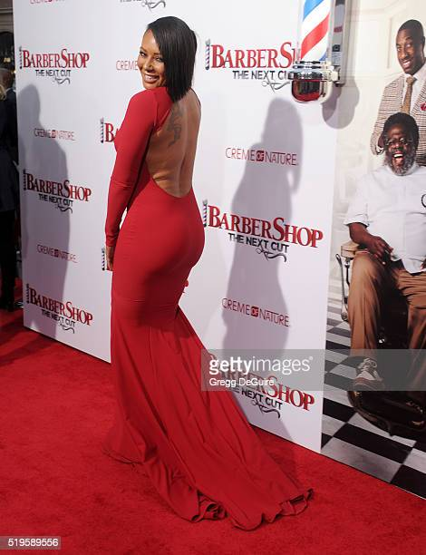 Mel B arrives at the premiere of New Line Cinema's 'Barbershop The Next Cut' at TCL Chinese Theatre on April 6 2016 in Hollywood California