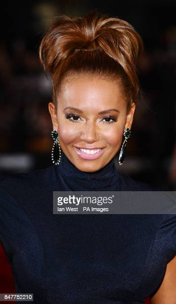 Mel B arrives at the premiere of The Hunger Games at the O2 in London